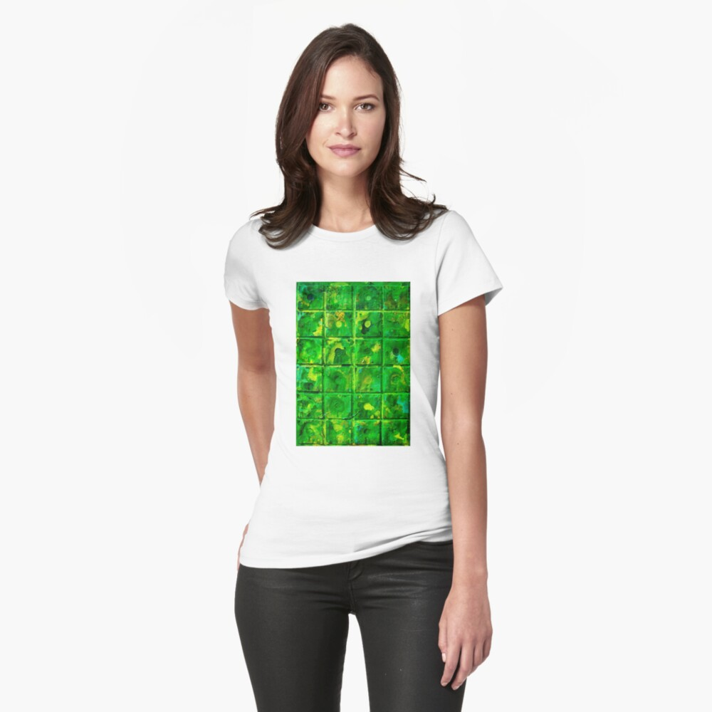 Green Womens T-Shirt Front