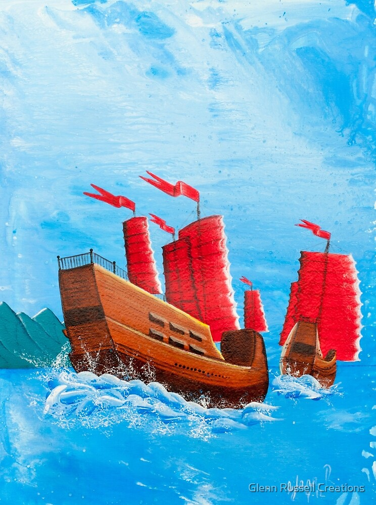 Chinese Ships by Glenn Russell Creations