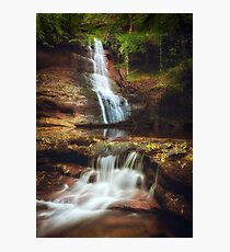 Pwll y Wrach Waterfalls Talgarth Photographic Print