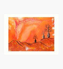 Ancient Boab Trees Art Print