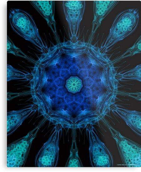 Amoeba Mandala (Blue) by PandemoniumPrya