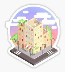 Isometric city block - Daytime☀ Sticker