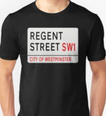 Regent Street London Street Sign Unisex T-Shirt