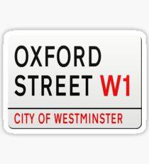 Oxford Street London Street Sign Sticker