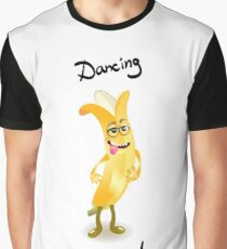 Character cheerful banana dancing  Graphic T-Shirt