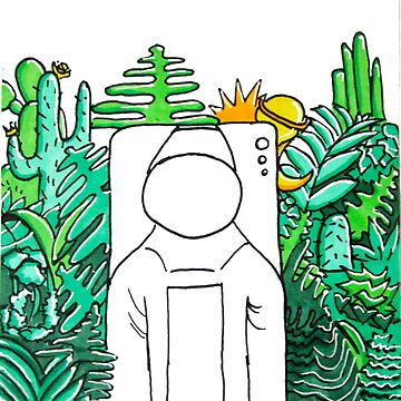 Green Astronaut in Forest-- Pop art style by olivialu