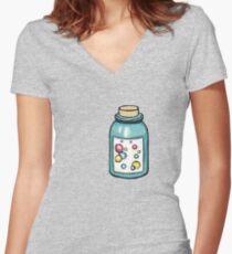 Bottle bubble Women's Fitted V-Neck T-Shirt