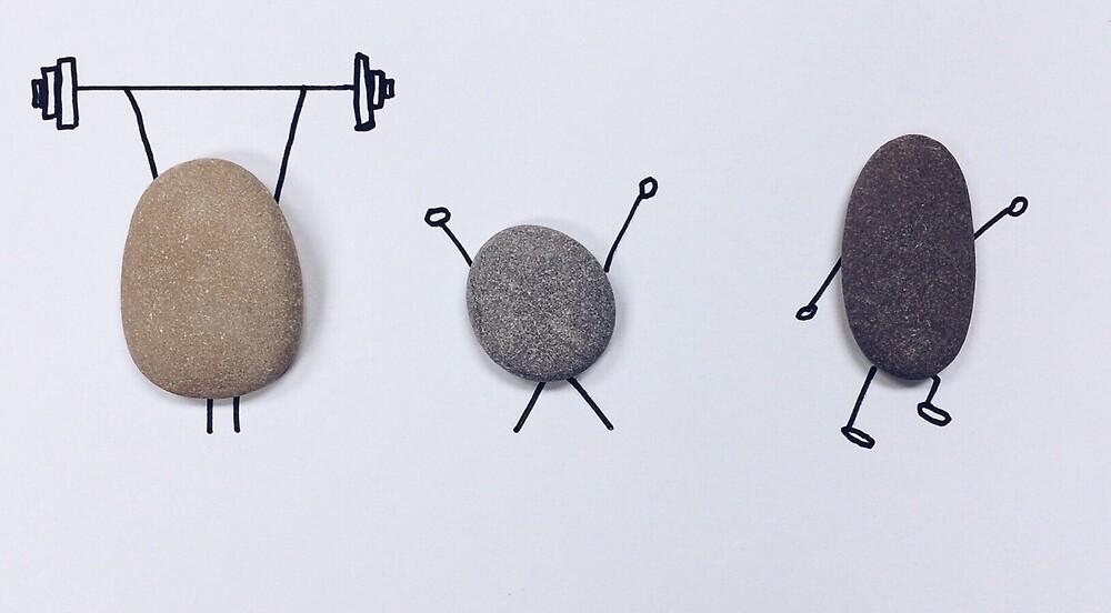 Sporting stones by eleyne