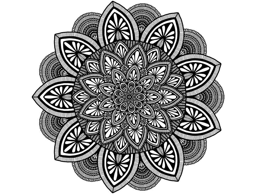 Black and white mandala design.  by art-and-soul