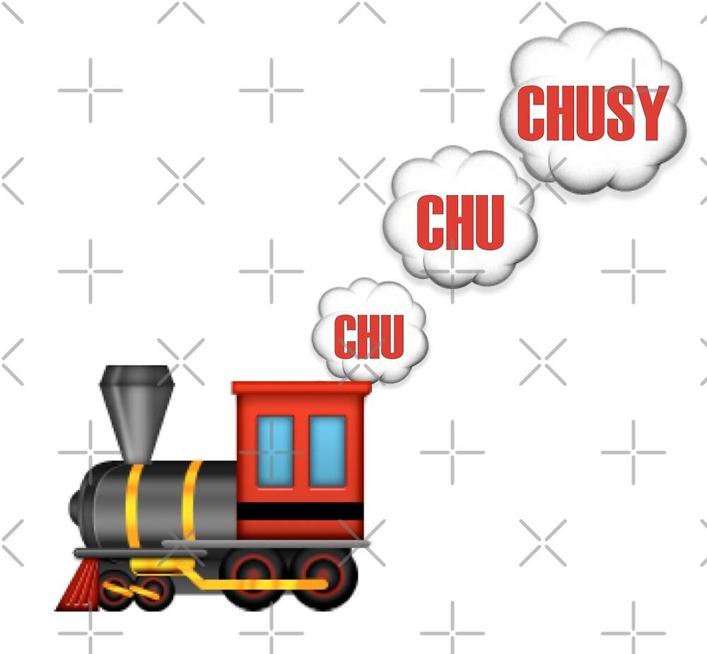 Chu Chu CHUSY Emoji - White Background by broadwaybound