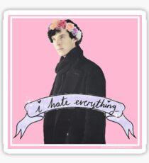 Sherlock I hate everything Sticker