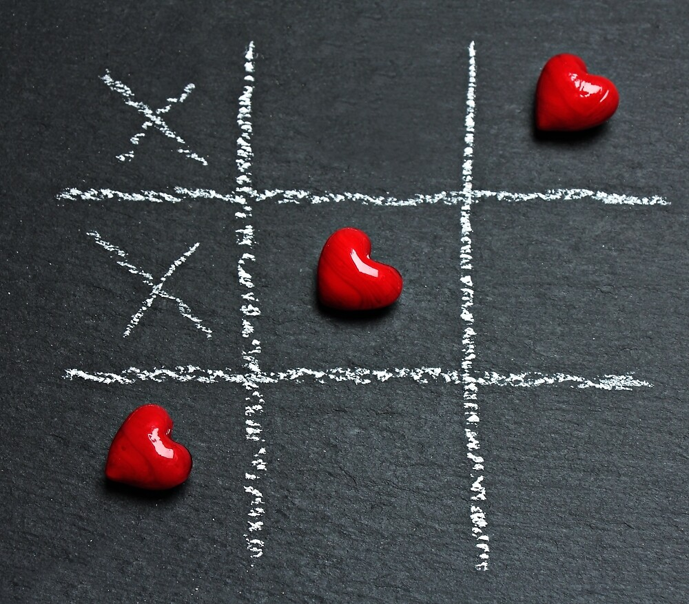 Tic Tac Toe with heart by eleyne