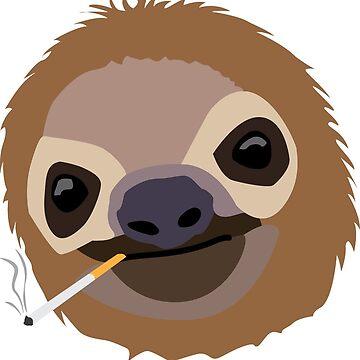 Cigarette Sloth by travishoctor