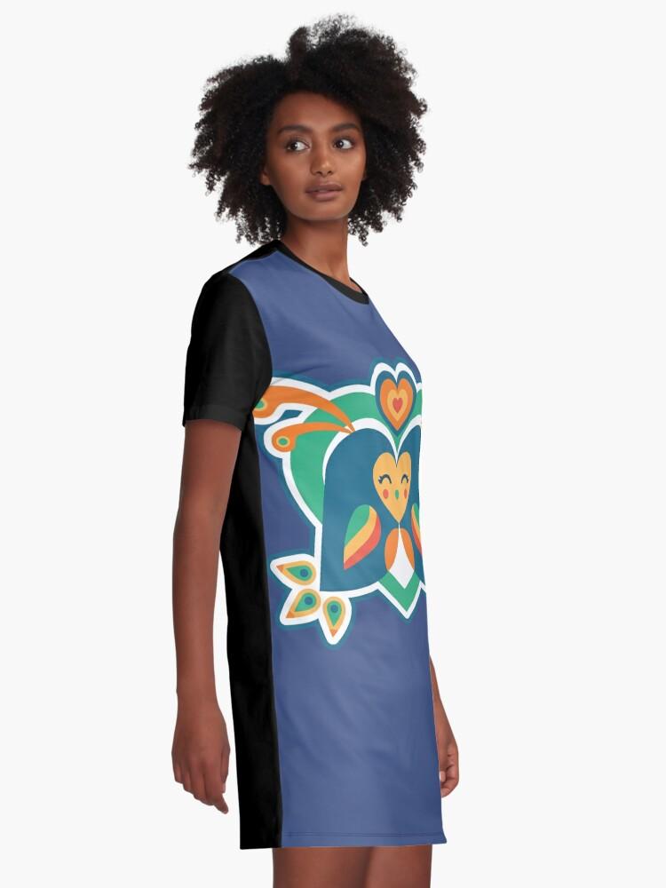 Alternative Ansicht von Liebe Vögel T-Shirt Kleid
