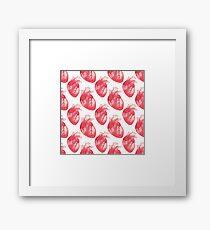 Human heart Framed Print
