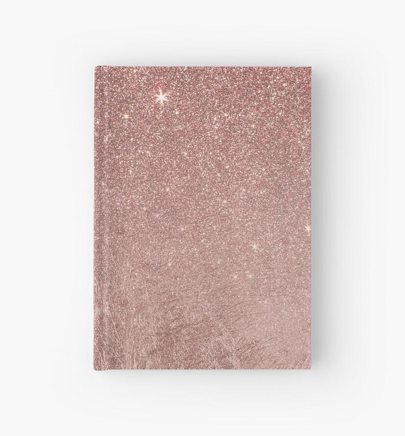Girly Glam Pink Rose Gold Folie und Glitter Mesh von Blkstrawberry