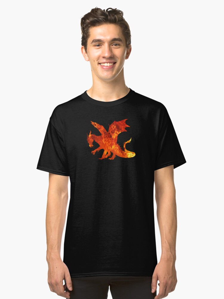 Fire Dragon Classic T-Shirt Front
