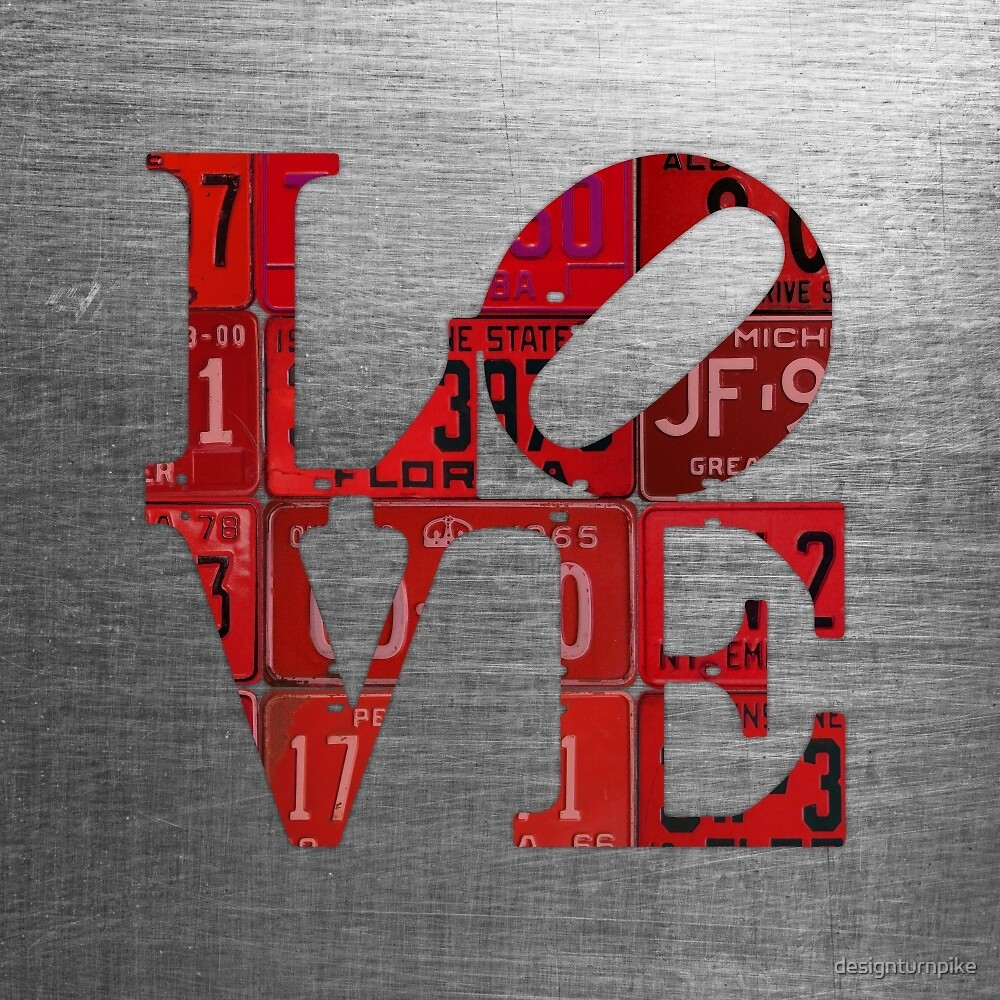 Love Word Art License Plates Red by designturnpike