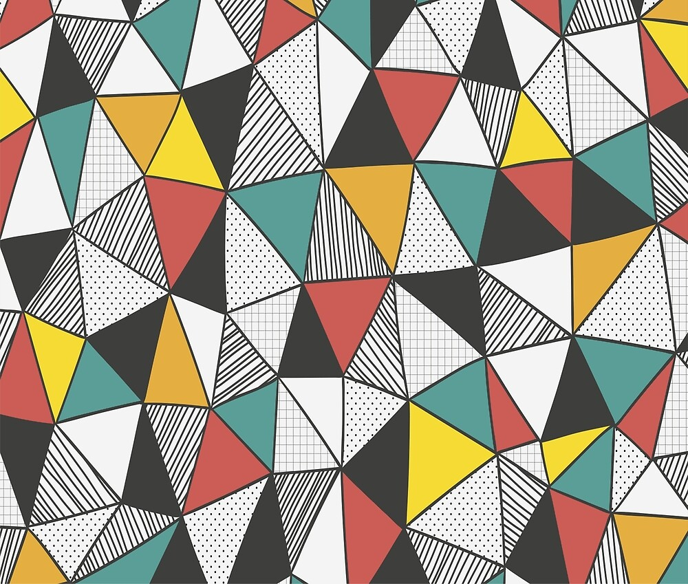 Triangle Geometric Pattern by ClineDesigns