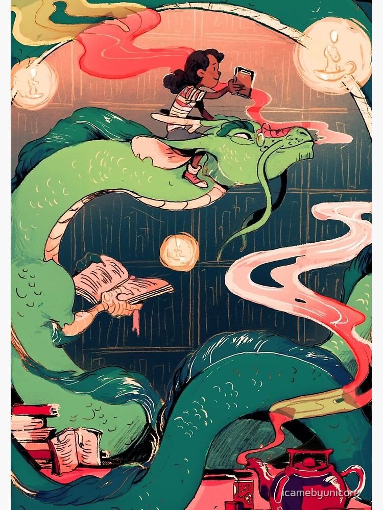Library Dragon by icamebyunicorn