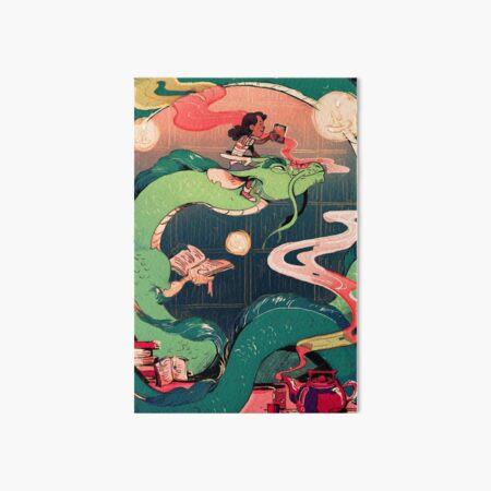 Library Dragon Art Board Print