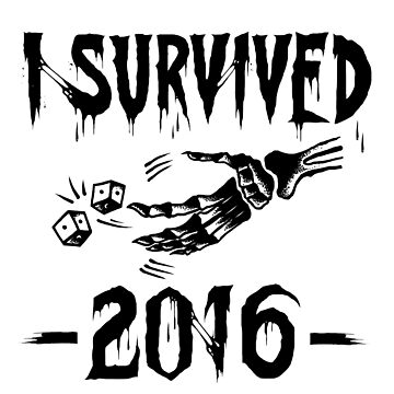 I survived 2016 - black type by TheTeesy