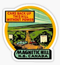 Magnetic Hill New Brunswick Vintage Travel Decal Sticker