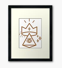 ALLSEEING EYE KING Framed Print