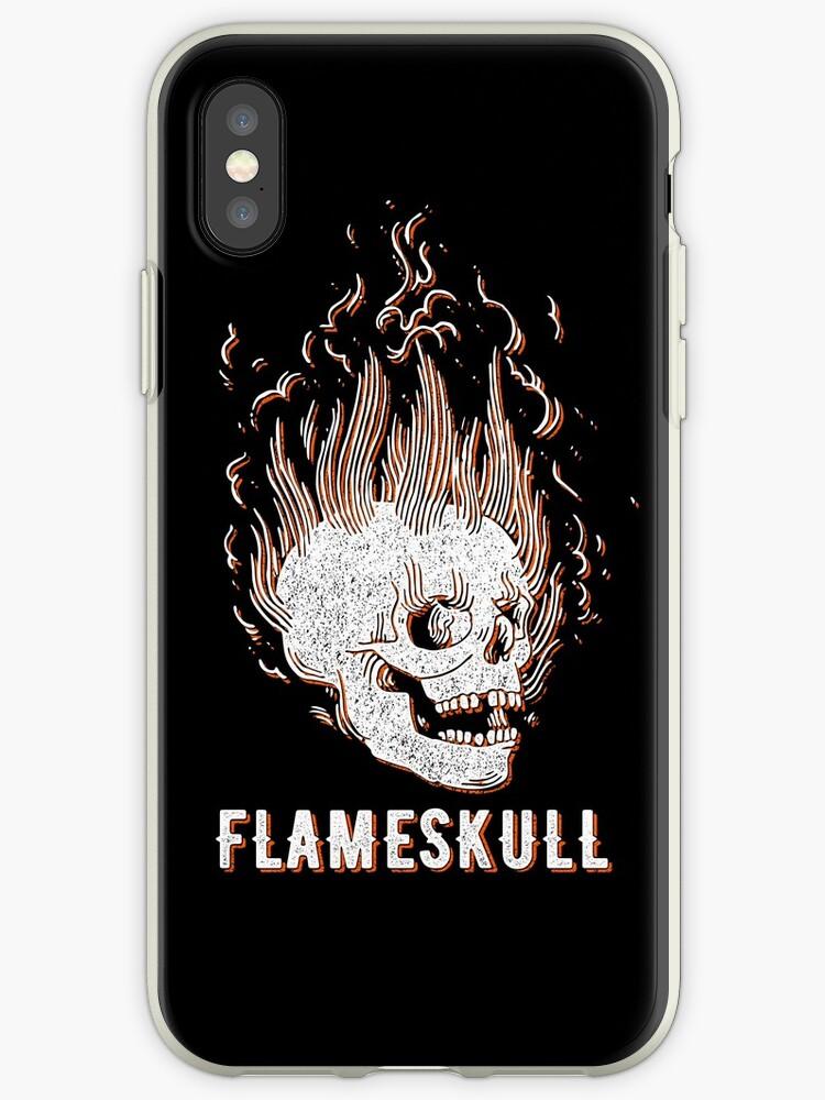 Spooky FlameSkull (orange vintage effect) by Doge21