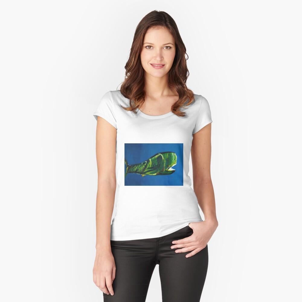 Mahi Mahi Women's Fitted Scoop T-Shirt Front