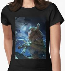 Horo the Wise Wolf Womens Fitted T-Shirt