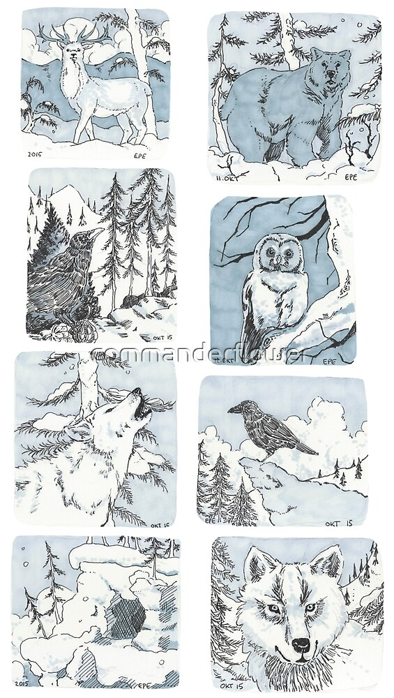 Nature Sketches by commanderflower