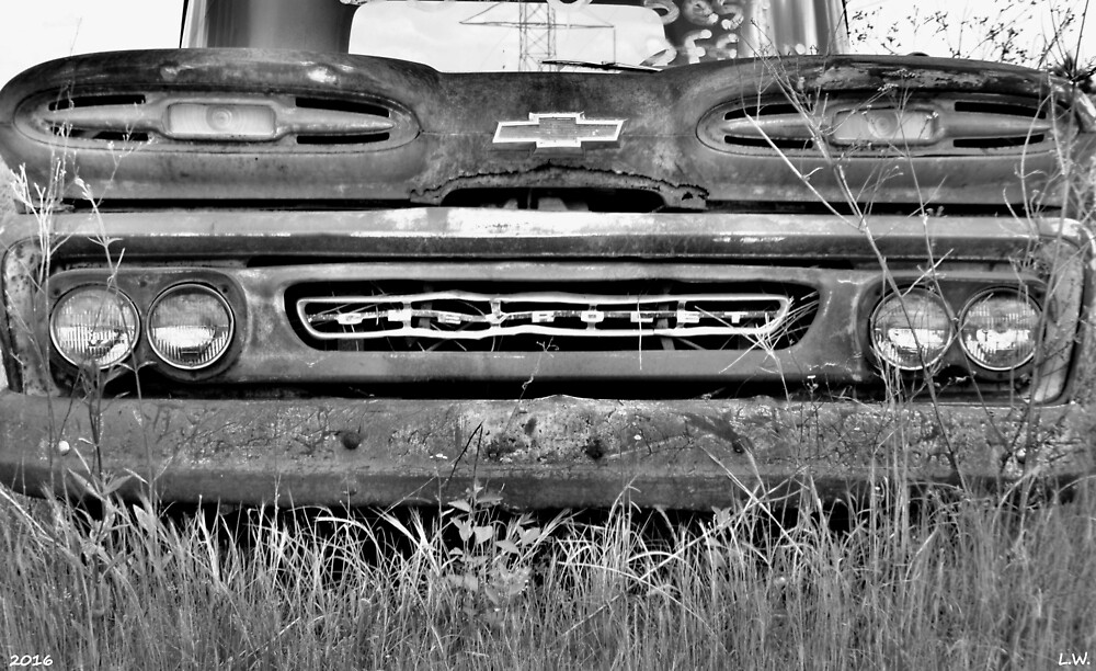 1961 Chevrolet Apache 10 Black And White  by LisaWootenPhoto
