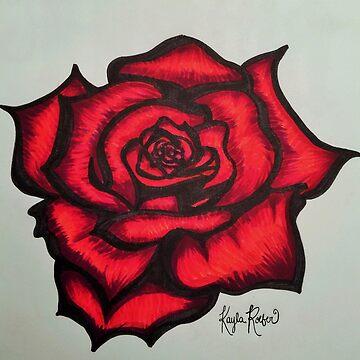Red Rose by kaylaroeber