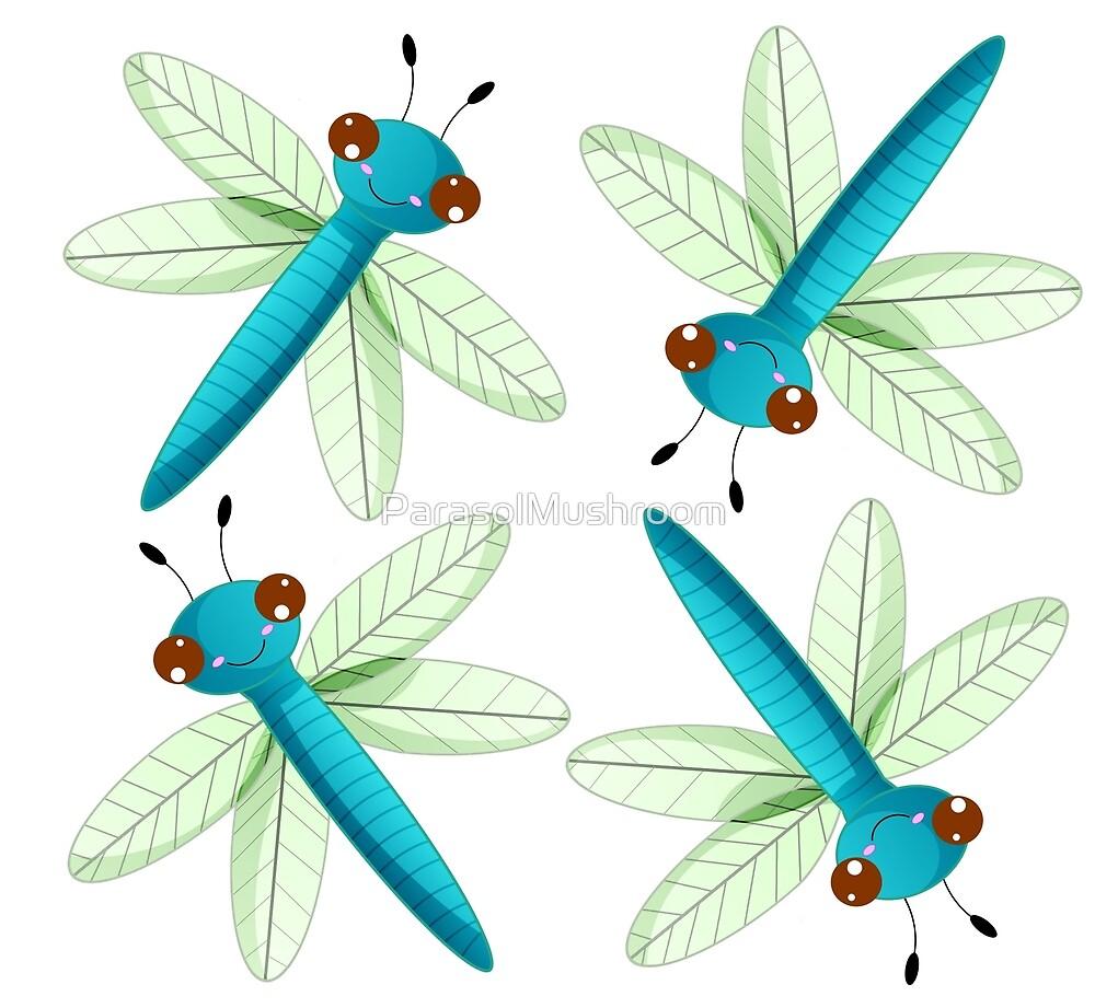 Cute Dragonfly [Pattern] by ParasolMushroom