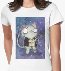 Zombie Han Solo Cat Womens Fitted T-Shirt