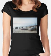 stone beach Women's Fitted Scoop T-Shirt