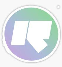 Rinse FM // High Quality // Lilac + Mint Green Sticker