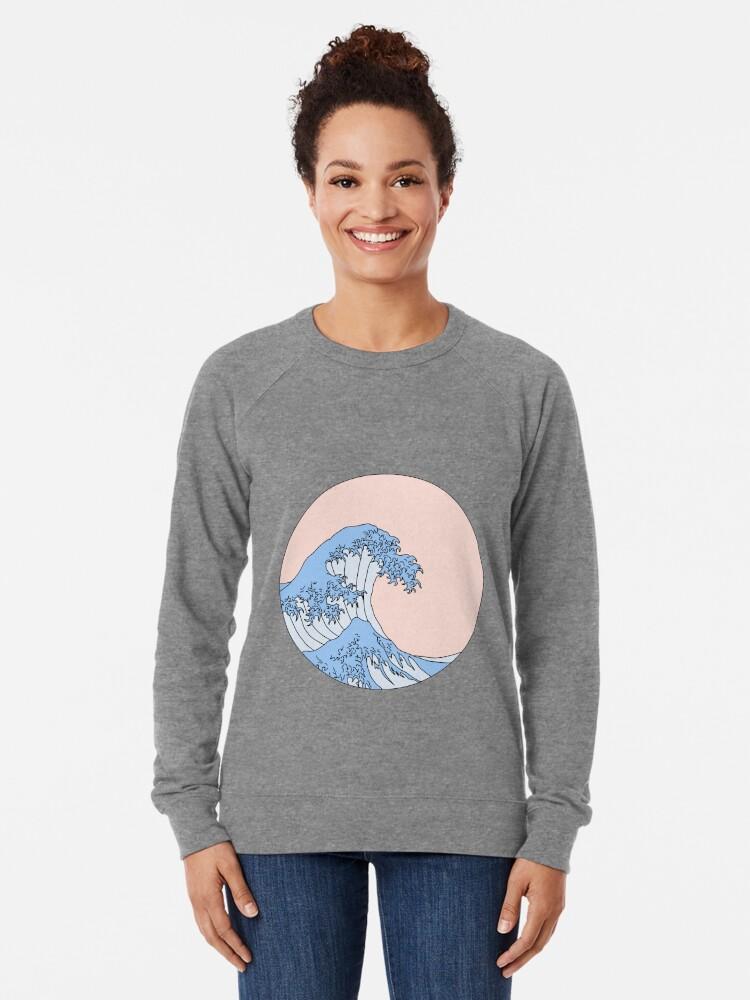 Alternate view of aesthetic wave Lightweight Sweatshirt