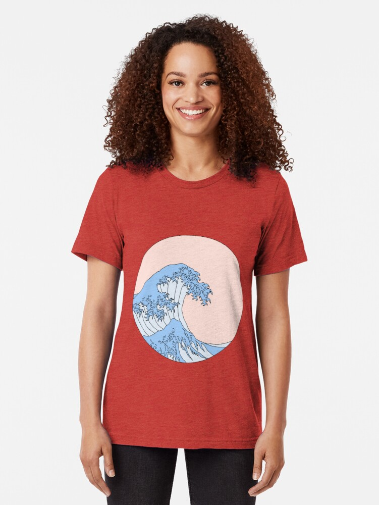 Alternate view of aesthetic wave Tri-blend T-Shirt