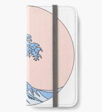 ästhetische Welle iPhone Flip-Case/Hülle/Klebefolie