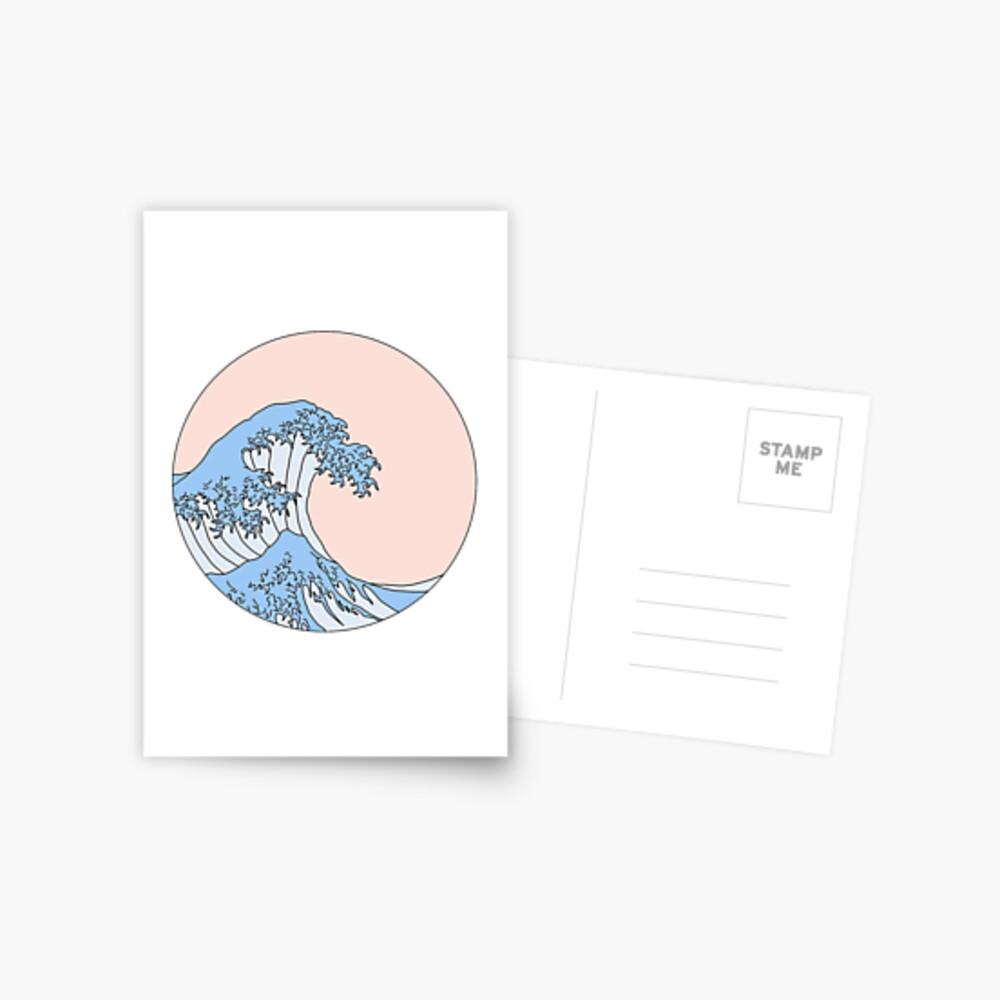 aesthetic wave Postcard