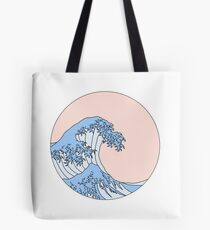 aesthetic wave Tote Bag
