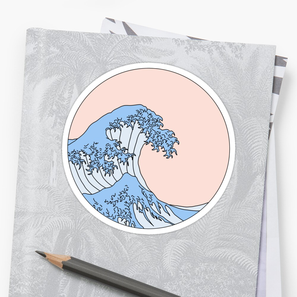 aesthetic wave Stickers