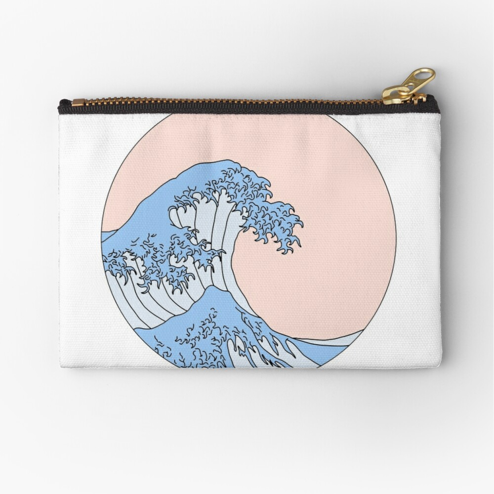 aesthetic wave Zipper Pouch