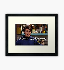 Matt LeBlanc Friends TV Show Framed Print