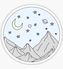 sky mountain scene Sticker