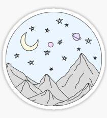 Himmel Bergszene Sticker