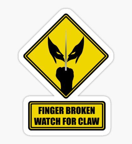 Watch for Claw! Sticker