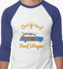 Woody Surf Wagon  Men's Baseball ¾ T-Shirt